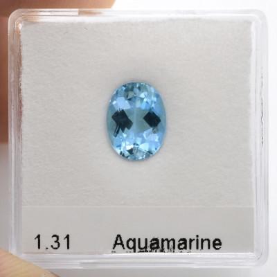 1.31 carat, Blue Brazilian Aquamarine Oval Shape