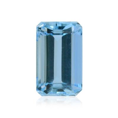 1.20 carat, Blue, Brazilian Aquamarine, Emerald Shape