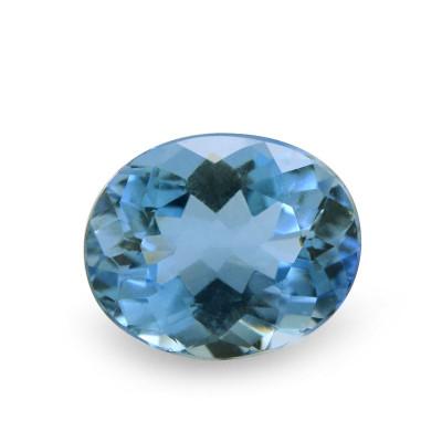 2.02 carat, Blue Brazilian Aquamarine Oval Shape