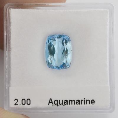2,00 карат, синий, бразильский Аквамарин, формы валика