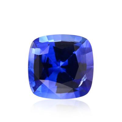 1.03 карат, синий, Шри-Ланки Сапфир подушкообразной формы