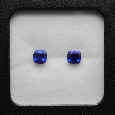 2.45 карат, синий, Шри-Ланки Сапфир подушкообразной формы