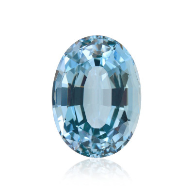 11.38 carats, blue, aquamarine, oval