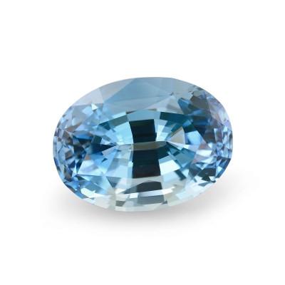 23.24 карат, синий, Аквамарин, овальной формы, GWLAB