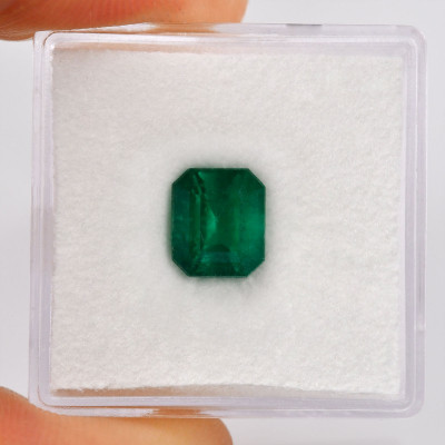2.03 карат, зеленый, колумбийский изумруд, Аквамарин форма