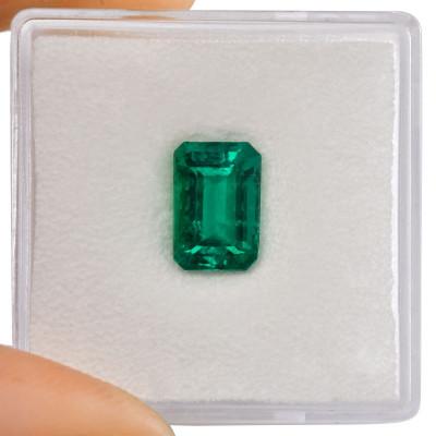 1.84 carat Green COLOMBIAN Emerald, Emerald Shape, GUBELIN