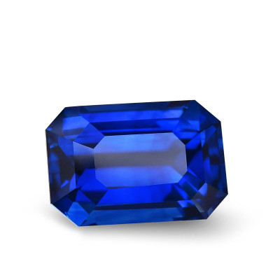 14.26 карат, королевский синий, Шри-Ланки сапфир, изумруд форма, гр