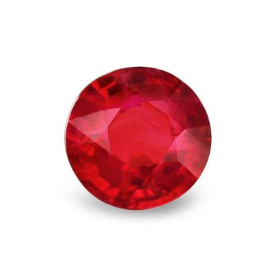 1.91 карат, голубиная кровь, бирманский рубин, круглой формы, гр