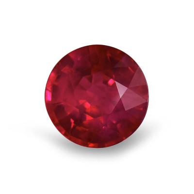 2.19 карат, Красный, бирманский рубин, круглой формы, АГЛ