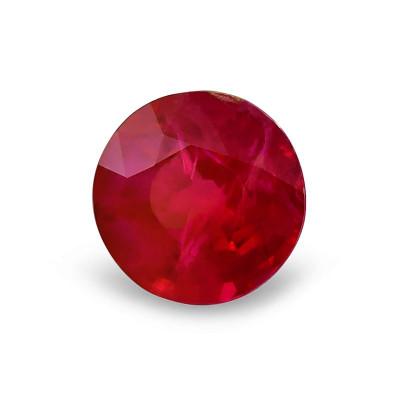 1.98 карат, голубиная кровь, бирманский рубин, круглой формы, КР