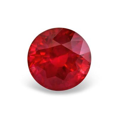 2,80 карат, голубиная кровь, бирманский рубин, круглой формы, гр