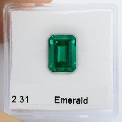 2.31 карат, зеленый замбийский Изумруд, изумрудно-формы, незначительной, АГЛ