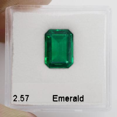 2.57 карат, зеленый замбийский Изумруд, изумрудно-формы, незначительной, АГЛ