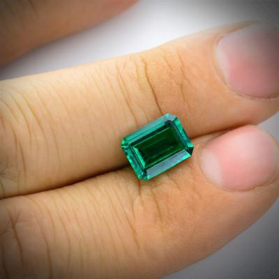 2.63 карат, зеленый замбийский Изумруд, изумрудно-формы, мелкие, АГЛ