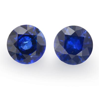 1.31 карат, синий, Шри-Ланки Сапфир, круглой формы