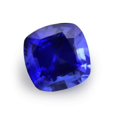 1.25 carat Blue Sri Lankan Sapphire, Cushion Shape
