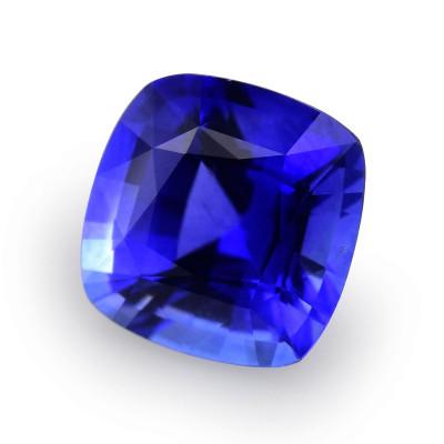 1.04 карат, синий, Шри-Ланки Сапфир подушкообразной формы