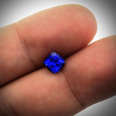 1.19 carats, blue, Sri-Lankan Sapphire cushion shape