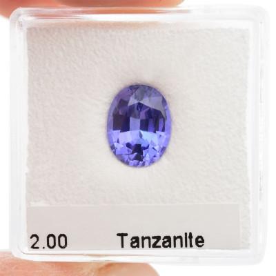 2.00 carat, Violet, Tanzanite, Oval Shape