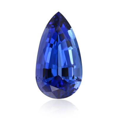 24.58 карат, синий, фуксия, грушевидную форму, GWLAB
