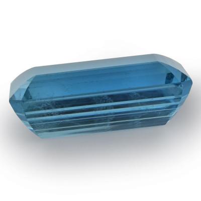 98.51 карат, синий, аквамарин, изумруд формы, никаких доказательств повышения тепло, гр