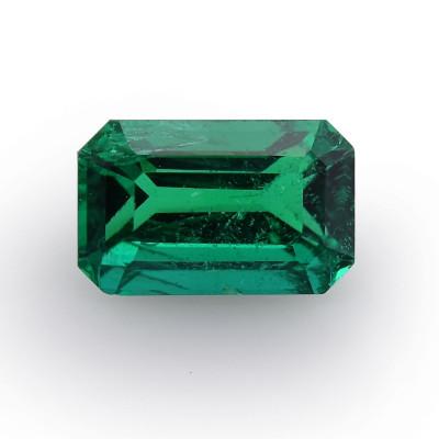 0.91 carat, Green, Zambian Emerald, Radiant Shape, без масла, GWLAB
