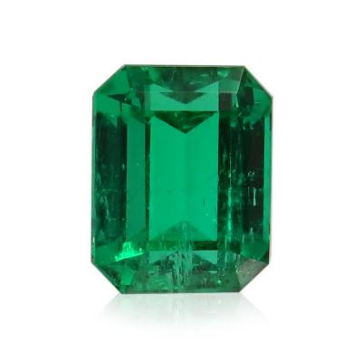 1.91 карат, зеленый, колумбийский изумруд, изумрудно-формы, незначительной, компакт-диск
