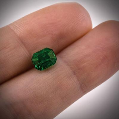1.52 карат, зеленый, колумбийский изумруд, изумрудно-формы, мелкие, GUBELIN