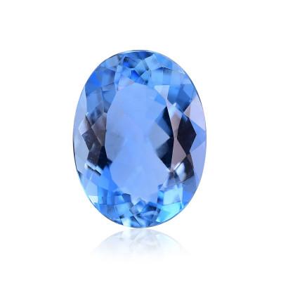 1.68 карат, синий, бразильский Аквамарин, овальной формы, термообработка
