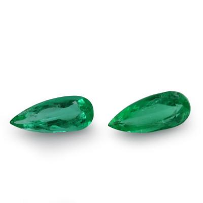 9.48 карат, зеленый, колумбийский изумруд, грушевидной формы, мелкие, компакт-диск