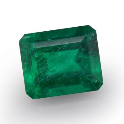 1.68 карат, зеленый, колумбийский изумруд, изумрудно-формы, мелкие, компакт-диск