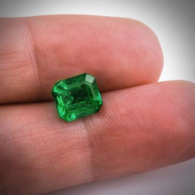 2.47 карат, зеленый, колумбийский изумруд, изумрудно-формы, мелкие, компакт-диск