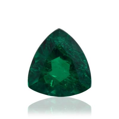 2.56 карат, зеленый, колумбийский изумруд, форма триллиант, минор, гр
