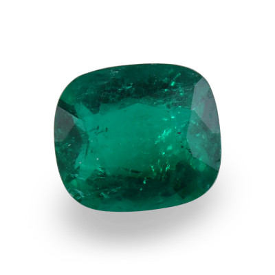 2.08 карат, зеленый, колумбийский изумруд, подушкообразной формы, мелкие, компакт-диск