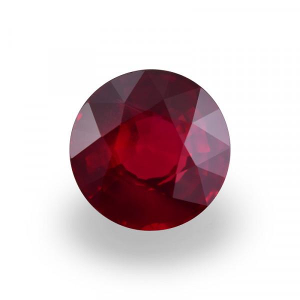 2.05 карат, цвета голубиной крови, Рубин Мозамбик, круглой формы, не свидетельствует о повышение тепло, гр