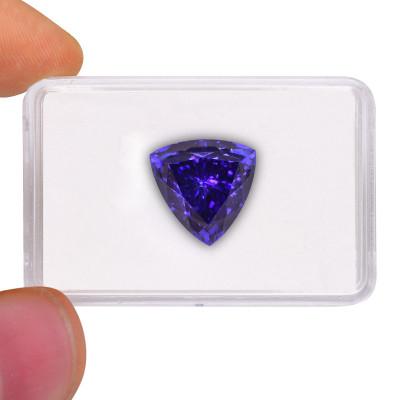 23.14 карат, синий, фуксия, форма триллиант, GWLAB
