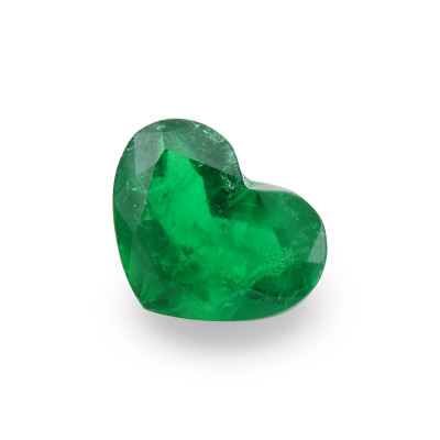 2.06 карат, зеленый, колумбийский изумруд, форма сердца, гр