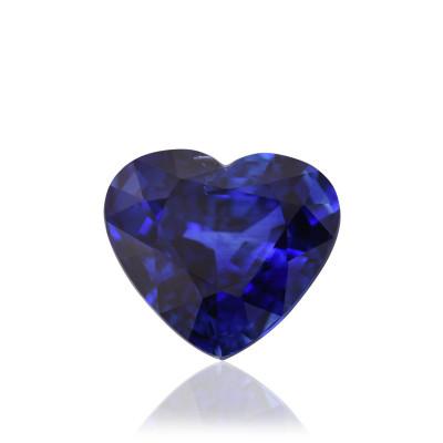 11.06 карат, королевский синий, Шри-Ланки сапфир, в форме сердца, признаков повышения тепло нет, гр