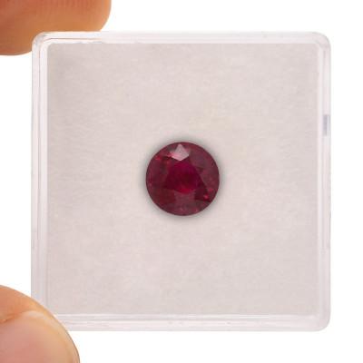2.02 карат, голубиная кровь, бирманский рубин, круглой формы, гр