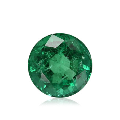 1.89 карат, замбийский Изумруд зеленый, круглой формы