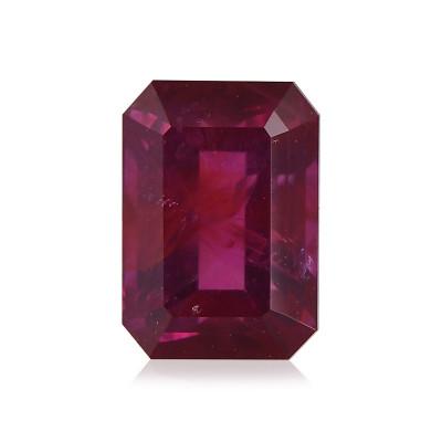 1.37 карат, Красный, Африканский рубин, изумруд формы