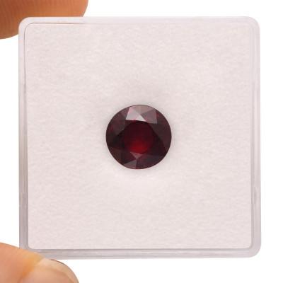 2.40 карат, Красное, рубиновый Мозамбик, круглой формы