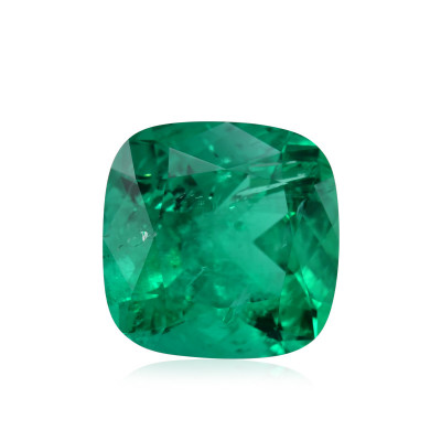 10.77 карат, зеленый, колумбийский изумруд, подушкообразной формы, мелкие, компакт-диск
