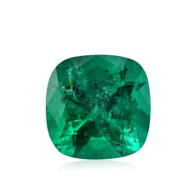 11.62 карат, зеленый, колумбийский изумруд, подушкообразной формы, мелкие, компакт-диск