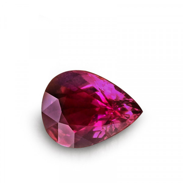 2.07 carat, Red, Ruby, Pear Shape, No evidence of heat enhancement