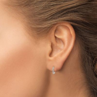 Fancy Pink Diamond Pave Hoop Earrings (1.02Ct TW)