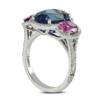 Natural Tanzanite & Spinel Diamond Ring (6.79Ct TW)