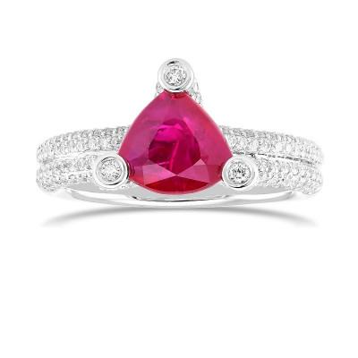 Ruby & Diamond Designer Dress Ring (2.75Ct TW)