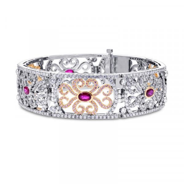Extraordinary Ruby & Pink Diamond Bracelet (10.61Ct TW)