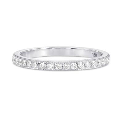 Diamond Half-Eternity Ring with Milgrain (0.17Ct TW)